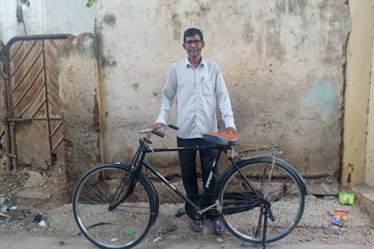 Hyderabad man recovers stolen bicycle