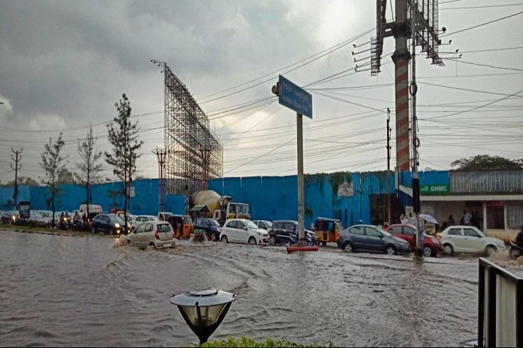 Monsoon arrives in Telangana but waterlogged roads halt Hyderabad traffic