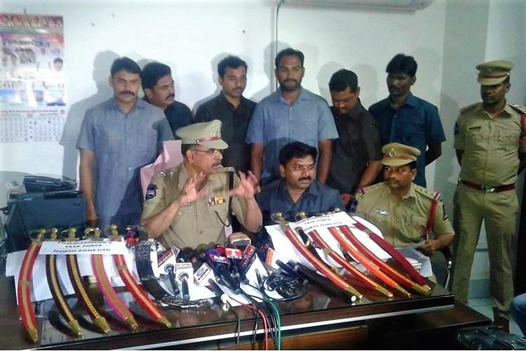 Hyd police arrest 12 for buying weapons online posting pics with them on social media
