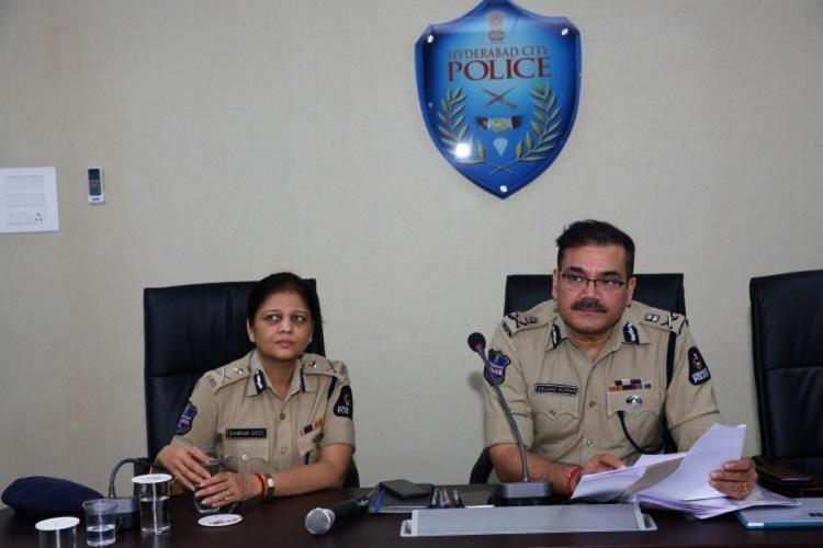 A file image of Hyderabad CP Anjani Kumar and other top cop