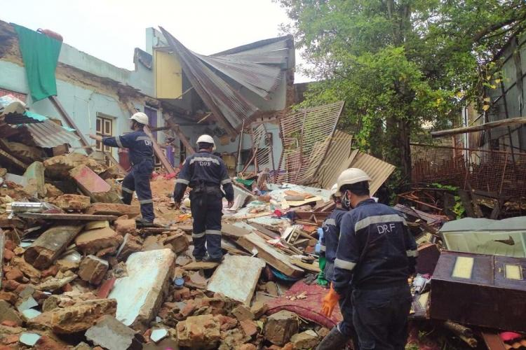 Two dead and five injured as house collapses during heavy rain in Hyderabad