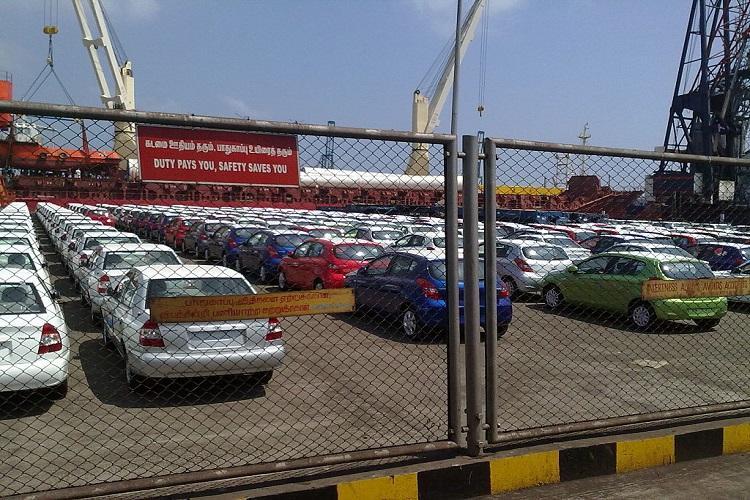 Cars at Hyundai plant