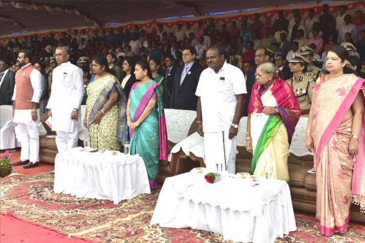 Patriotic fervour cultural programmes mark I-Day celebrations in Karnataka