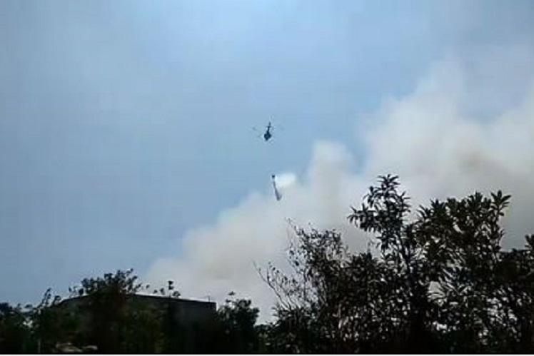 IAF chopper helps Coimbatore corporation douse dumpyard fire that raged for 36 hours