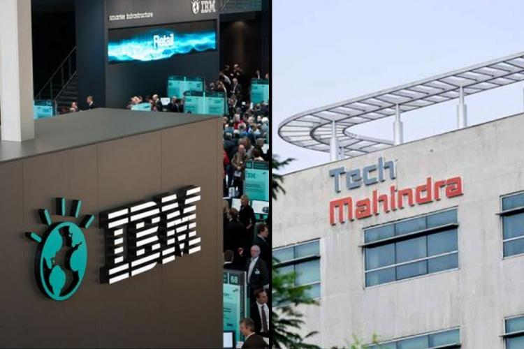 IBM Tech Mahindra logos