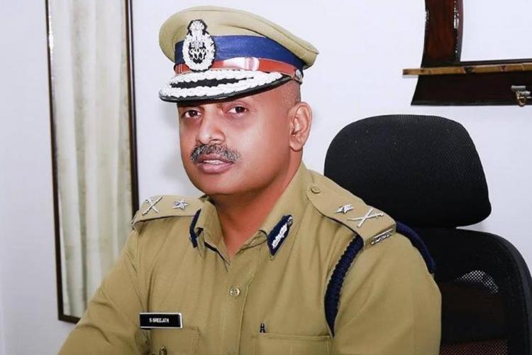 S Sreejith IPS in his office