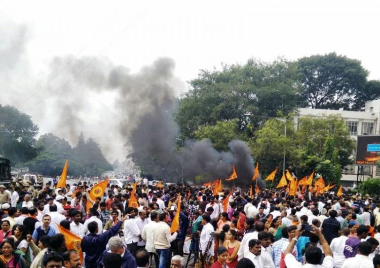 VHP holds protests across Karnataka demands Congress to be fair to Hindus