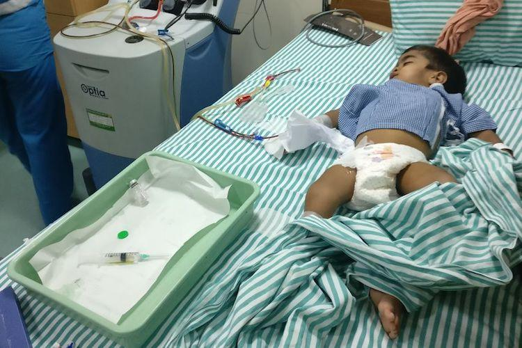 Save Manaswin He is just 3 and has a painful disease and its about to get worse for him