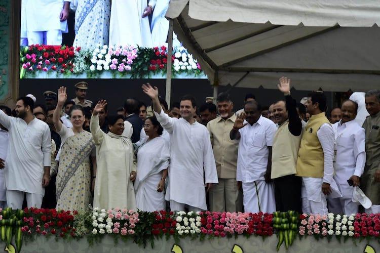 Opposition leaders unite at HD Kumaraswamys swearing-in as Karnataka Chief Minister