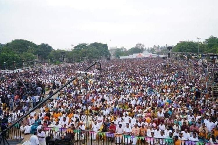 A show of strength at Ayyappa Bhakta Sangamam Sanyasis and right wing leaders come together