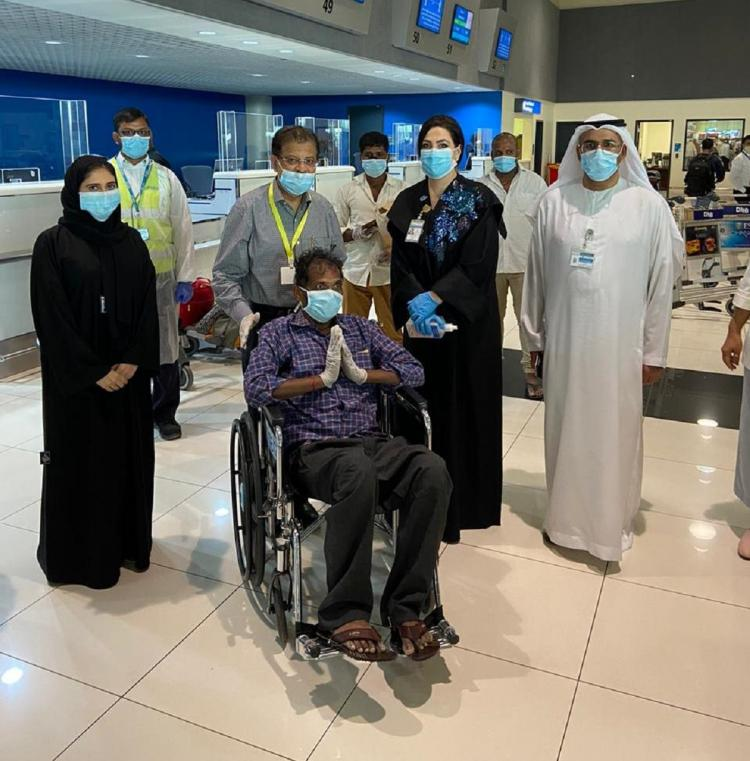 A worker who got treatment from the Dubai hospital was seen along with others