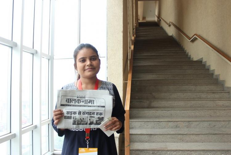 This is Chandni a street kid-turned-newspaper editor all of 18 years old