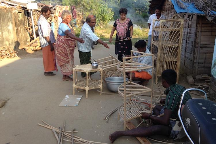 Tribal people in TN are making furniture out of an invasive plant which threatens environment