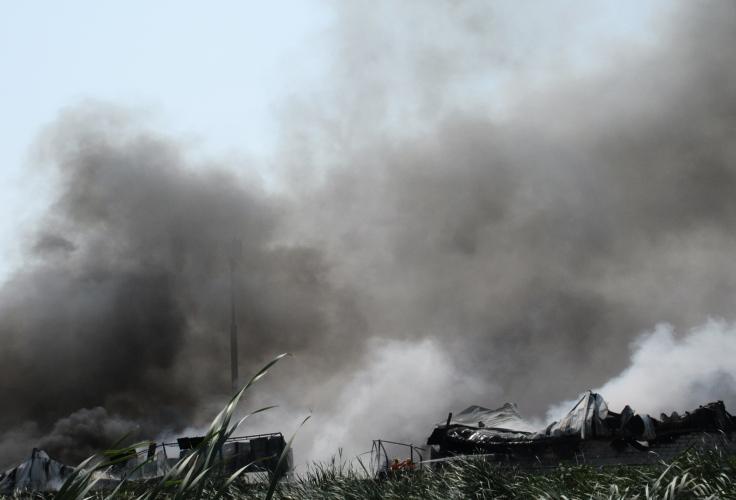 Ground report Massive fire breaks out in plastic manufacturing unit in Vijayawada