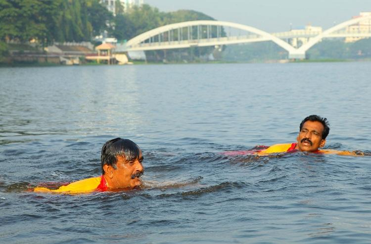 At 51 this Kerala man defies disability to swim across river Periyar