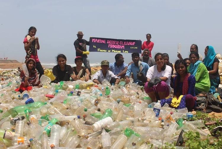 11000 plastic bottles 800 sandals recovered in clean-up drive on Tpuram coast