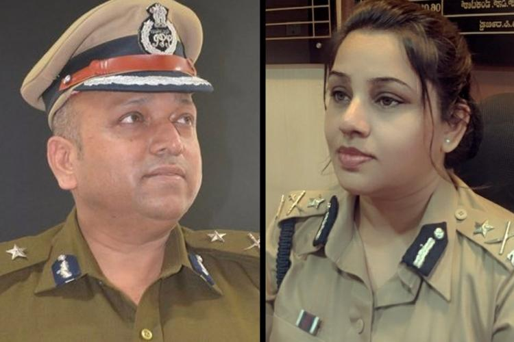 Photos of IPS officers D Roopa and Hemant Nimbalkar