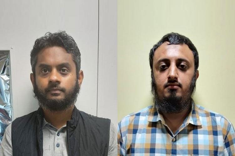 A mugshot of the accused men Ahamed Abdul Cader and Irfan Nasir who were arrested by the NIA