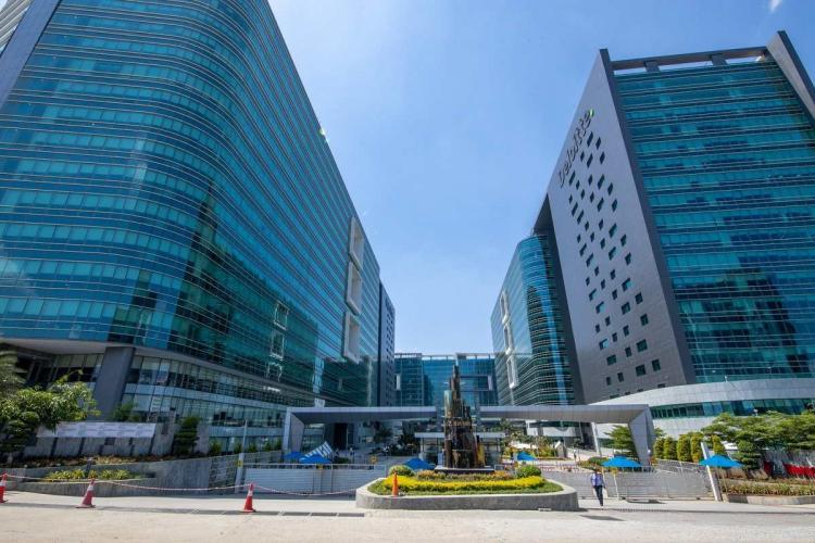 Deloitte office in an IT park in Hyderabad