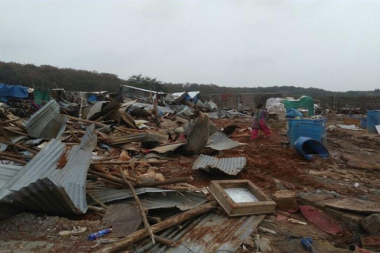 Had to pack everything and leave in 10 minutes Bangladeshi immigrants huts razed in Bluru