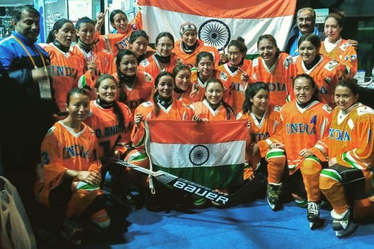 Big moment for womens ice hockey in India team registers first international win