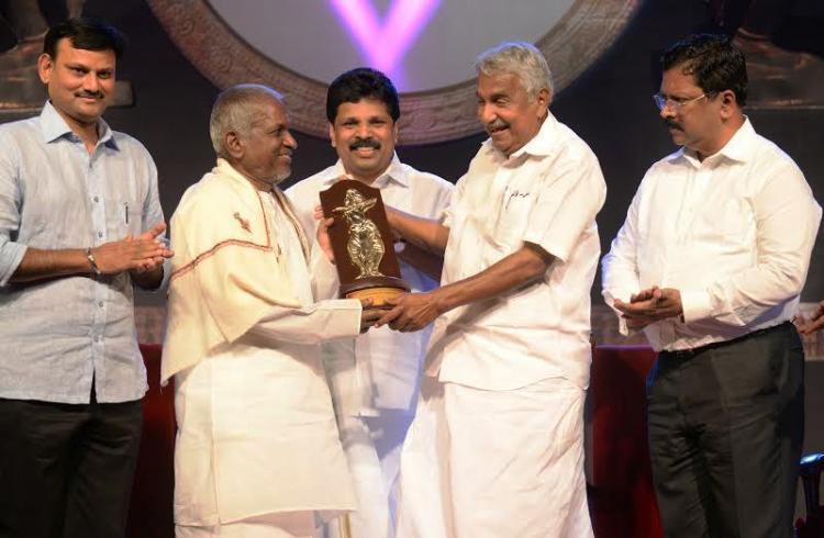 Kerala presents Nishagandhi award to maestro Ilayaraja promises land for music institute