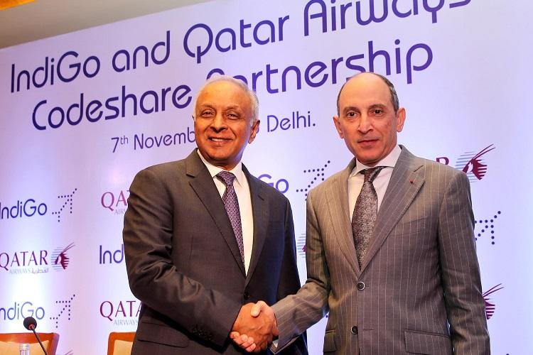 IndiGo and Qatar Airways sign one-way codeshare agreement for flights from Doha