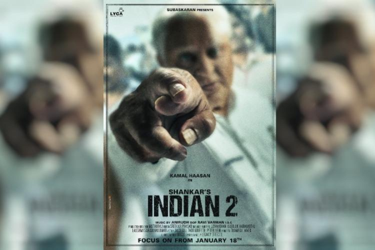 Kamal Haasan seen as an old man in the poster of Indian 2