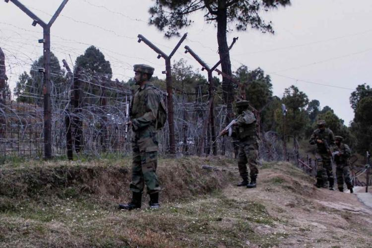 A file image of Indian Army jawans patrolling at the Line of Control LOC in Poonch district of Jammu and Kashmir