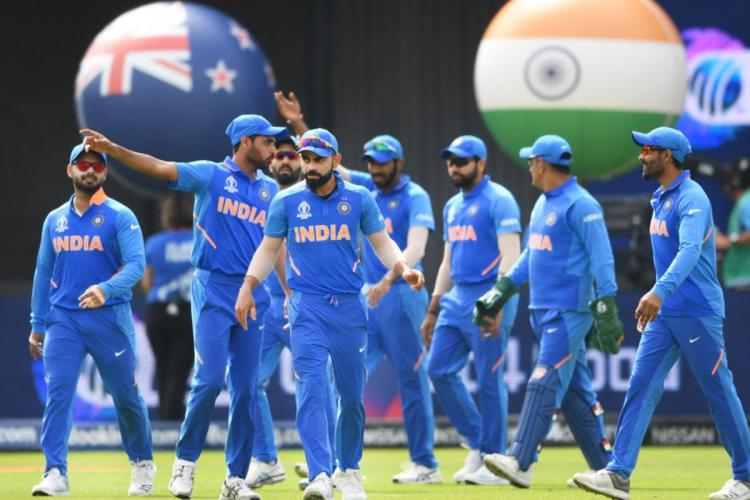 indian cricket team players seen on the field