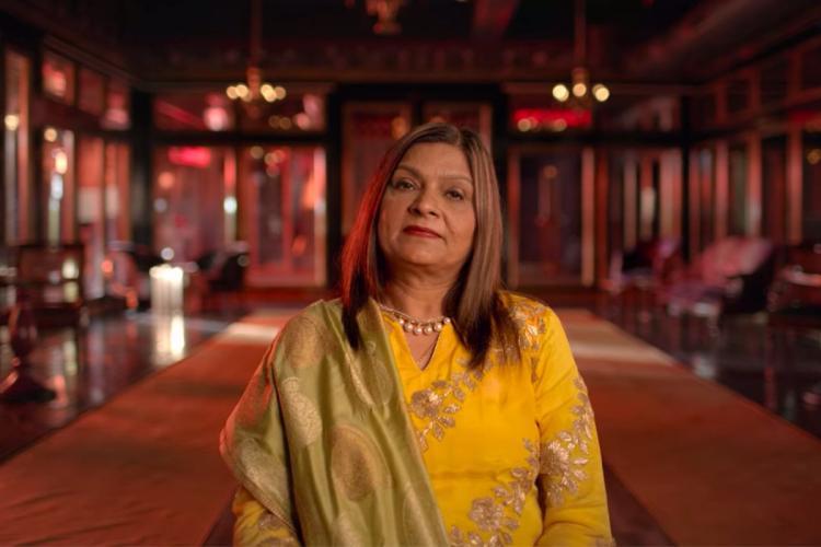 A Netflix screengrab of Mumbai based matchmaker Sima Taparia from the series Indian Matchmaking