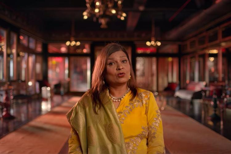 A screengrab of matchmaker Sima Taparia from the series Indian Matchmaking on Netflix