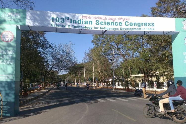 Its our university and we cant go to the Indian Science Congress student