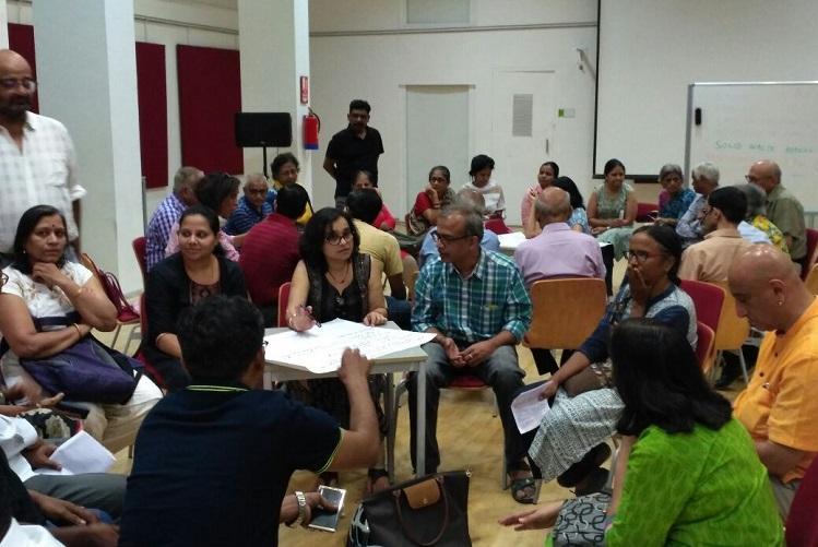 Indiranagar residents meet MLA candidates present citizen charter