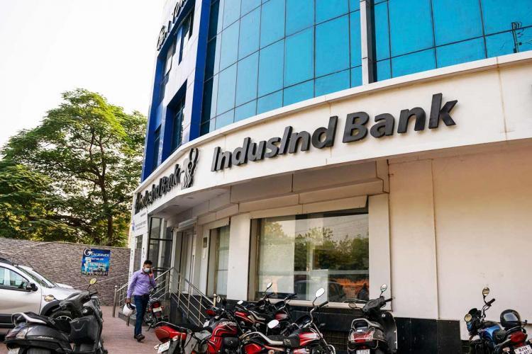 Indusind Bank facade