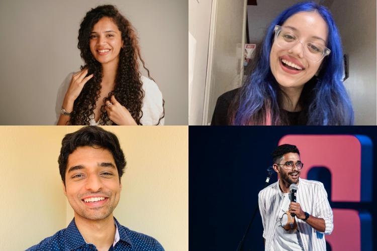Collage of Shyamolie, Satshyaa, Sharan Hegde and Abishek Kumar