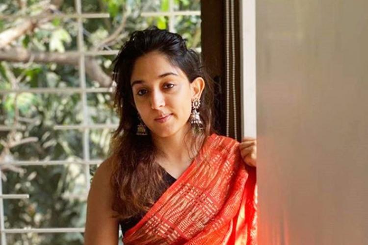 Aamir Khans daughter Ira Khan in a red saree