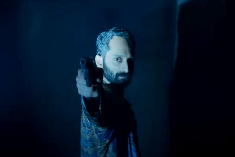 Fahad Faasil is seen holding a gun in the screengrab from the trailer of Irul