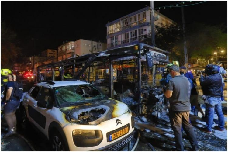 Polic personnel checking places in Israel after Hamas terrorism attacks Israeli civilians