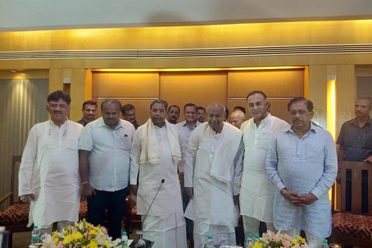 Common enemy is BJP HD Deve Gowda and Siddaramaiah bury the hatchet before bye-polls