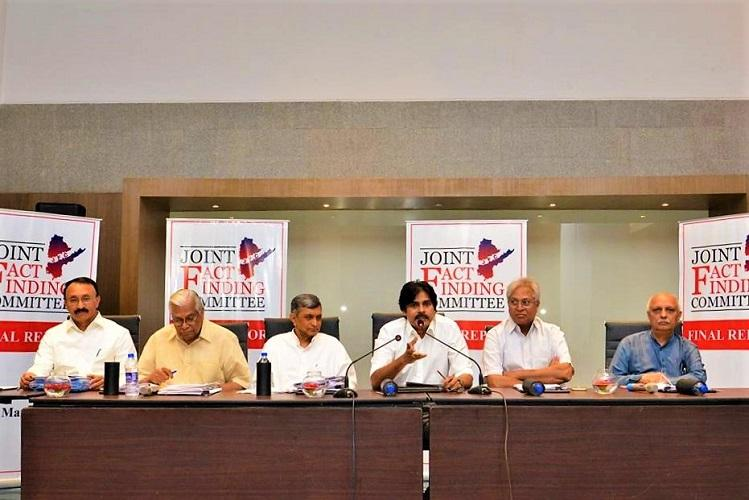 Pawan Kalyans JFC releases report demands special status to Andhra