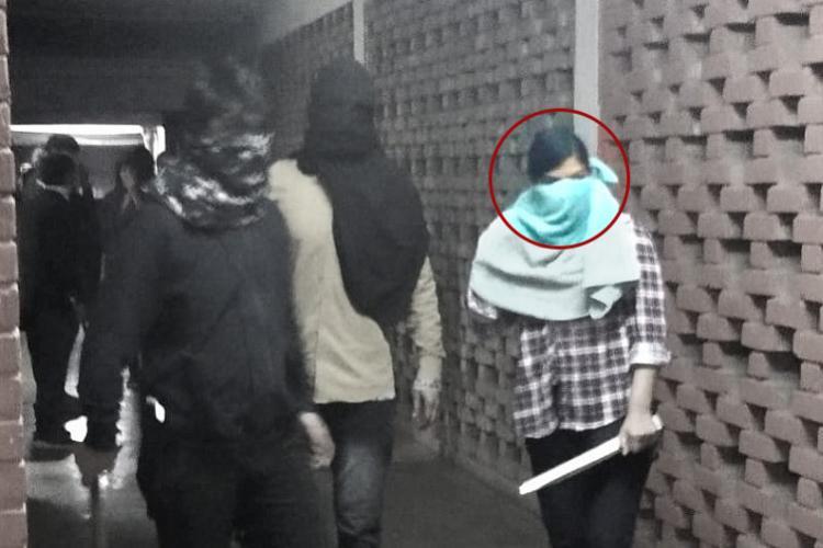Masked student seen at JNU not me ABVP activist Komal Sharma moves NCW