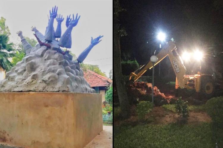 Mullivaikkal War memorial at Jaffna University demolished on Friday night