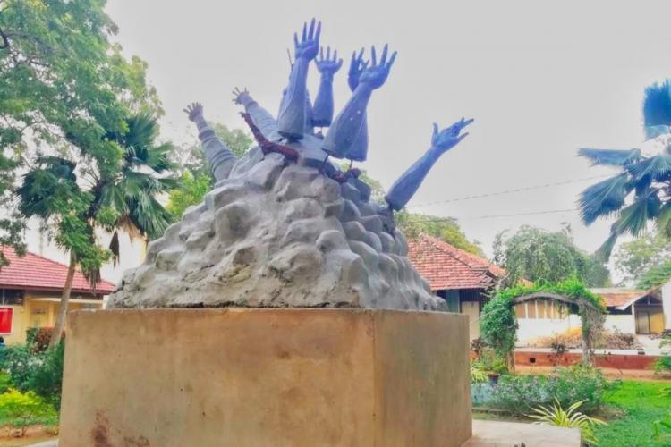 Mullivaikkal memorial in University of Jaffna