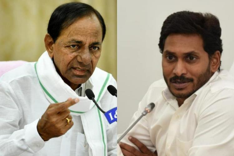 Collage of KCR and Jagan