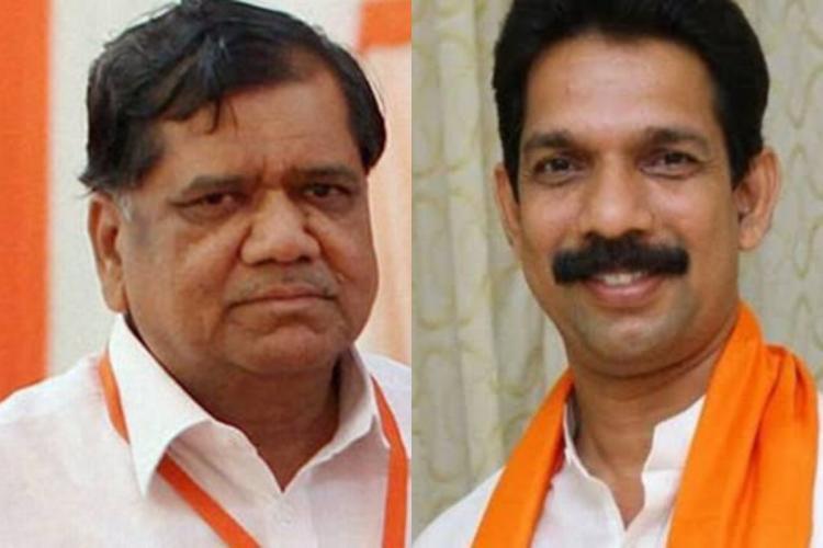 Jagadish Shettar and Nalin Kumar Kateel