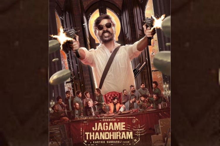 Jagame Thandhiram poster with Dhanush