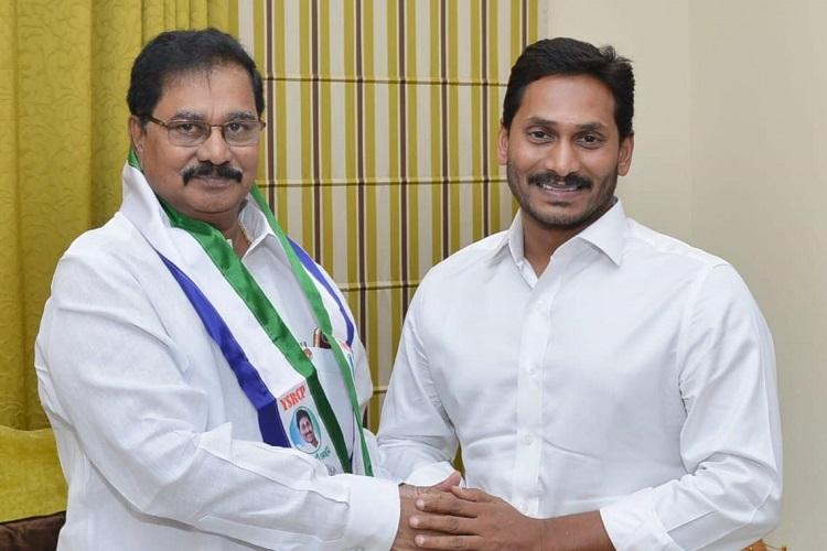 Ex-Andhra min joins YSRCP a day after being named in TDP candidate list