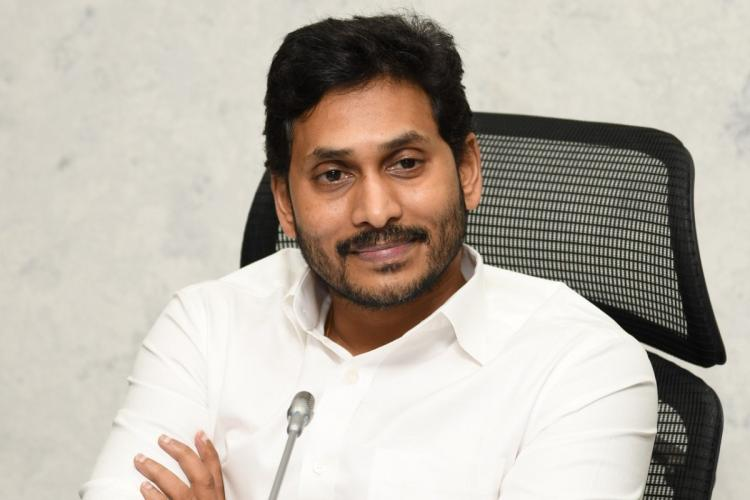 Andhra Pradesh Chief Minister Jagan Mohan Reddy at a review meeting