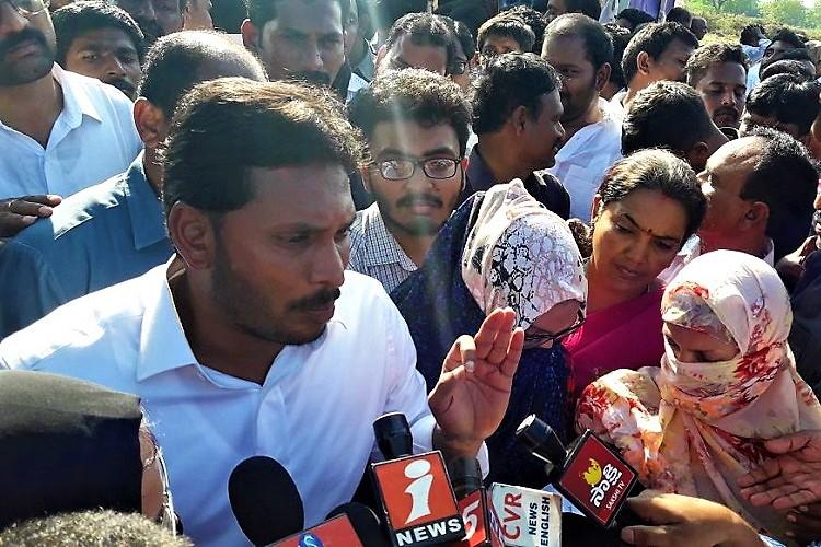 Fatima college students meet YSRCP chief Jagan as support pours in